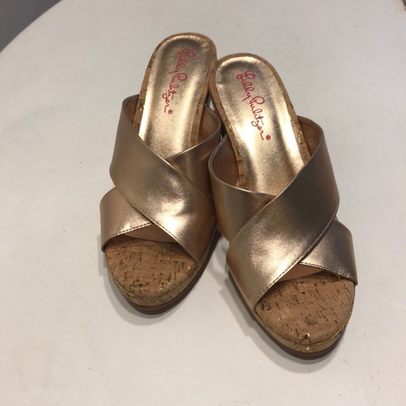 a94b5eef7959 Lilly Pulitzer Shoes - Lilly Pulitzer Selena Slide on Wedge